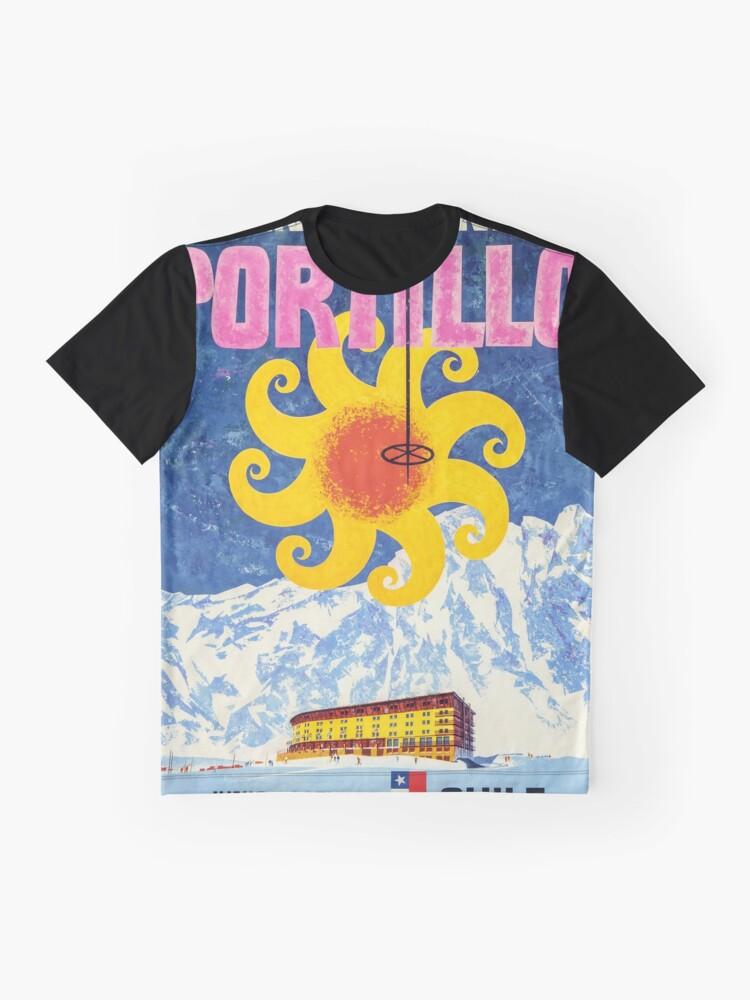 Alternative Ansicht von Portillo, Chile, Ski Poster Grafik T-Shirt
