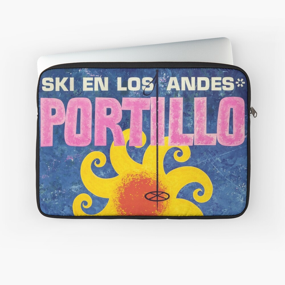 Portillo, Chile, Ski Poster Laptoptasche