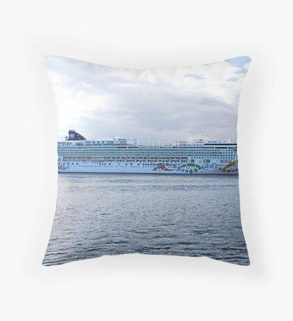 Norwegian Pearl Throw Pillow