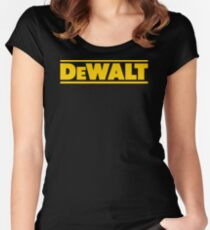 BEST SELLER SG113 T Shirt T Shirt Dewalt Power Heavy Tools Bohrer Air Kreisformige New Product Women's Fitted Scoop T-Shirt