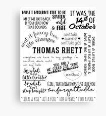 thomas rhett life changes album lyrics Canvas Print