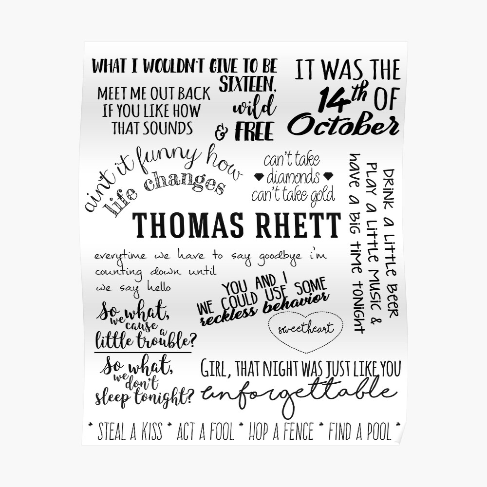 thomas rhett das leben verändert album lyrics Poster