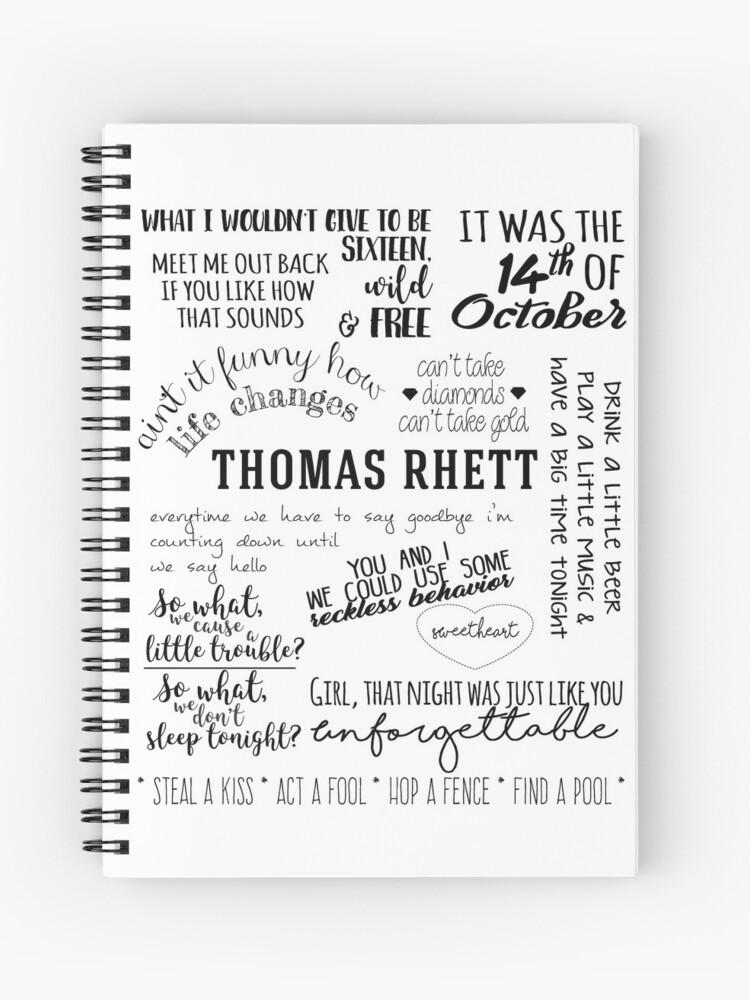thomas rhett life changes album lyrics | Spiral Notebook