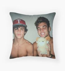 Cute Twins Throw Pillow