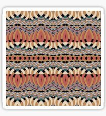 earth tones geometic abstract Sticker