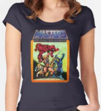He-Man Masters of the Universe Battle Scene Women's Fitted Scoop T-Shirt