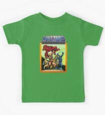 Camiseta para niños Escena de batalla de maestros del universo He-Man