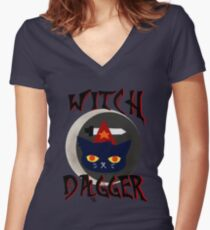 Witch Dagger Women's Fitted V-Neck T-Shirt