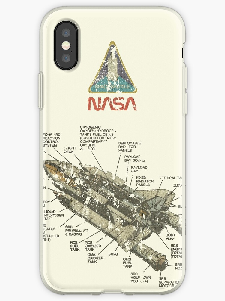 Vintage Space Shuttle Diagram Iphone Cases Covers By Jacob