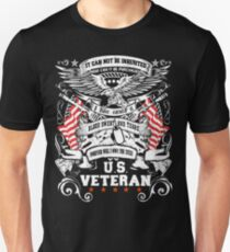 US veteran - It cannot be inherited proud American Unisex T-Shirt