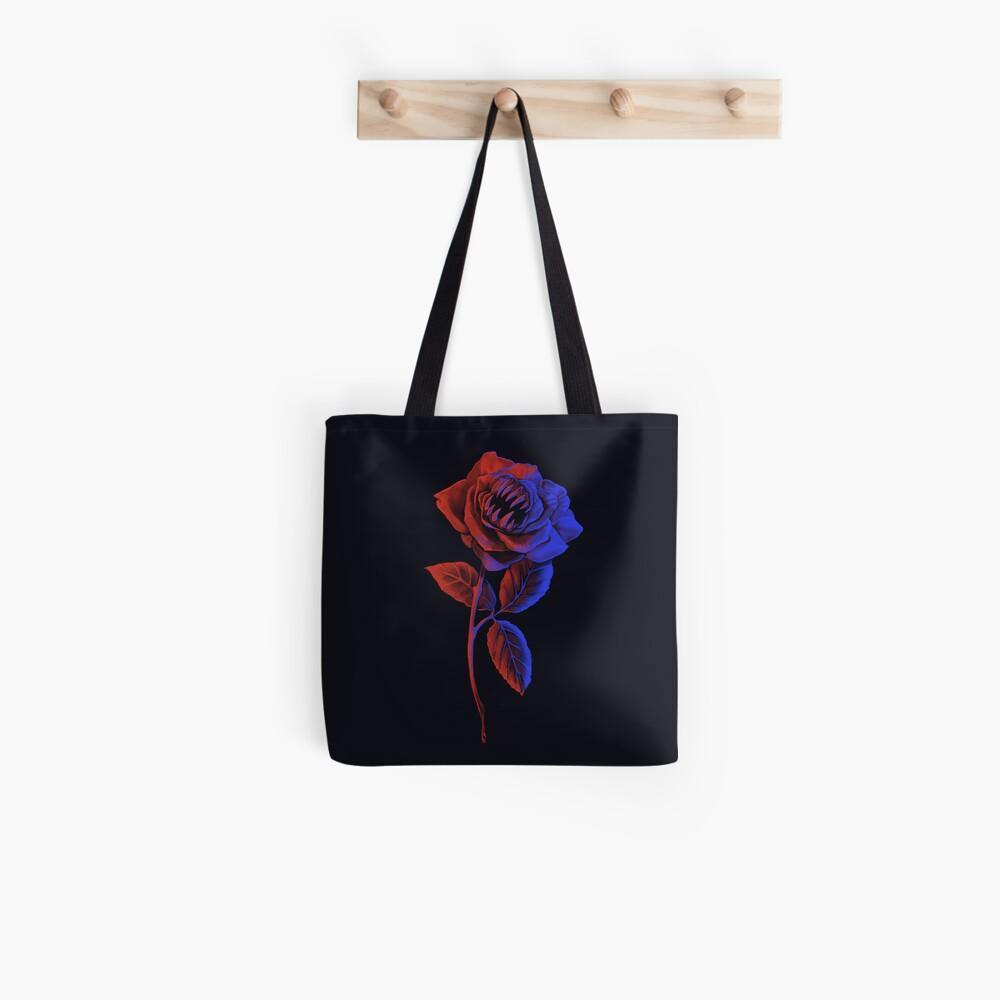 Rose, Zähne! Stofftasche