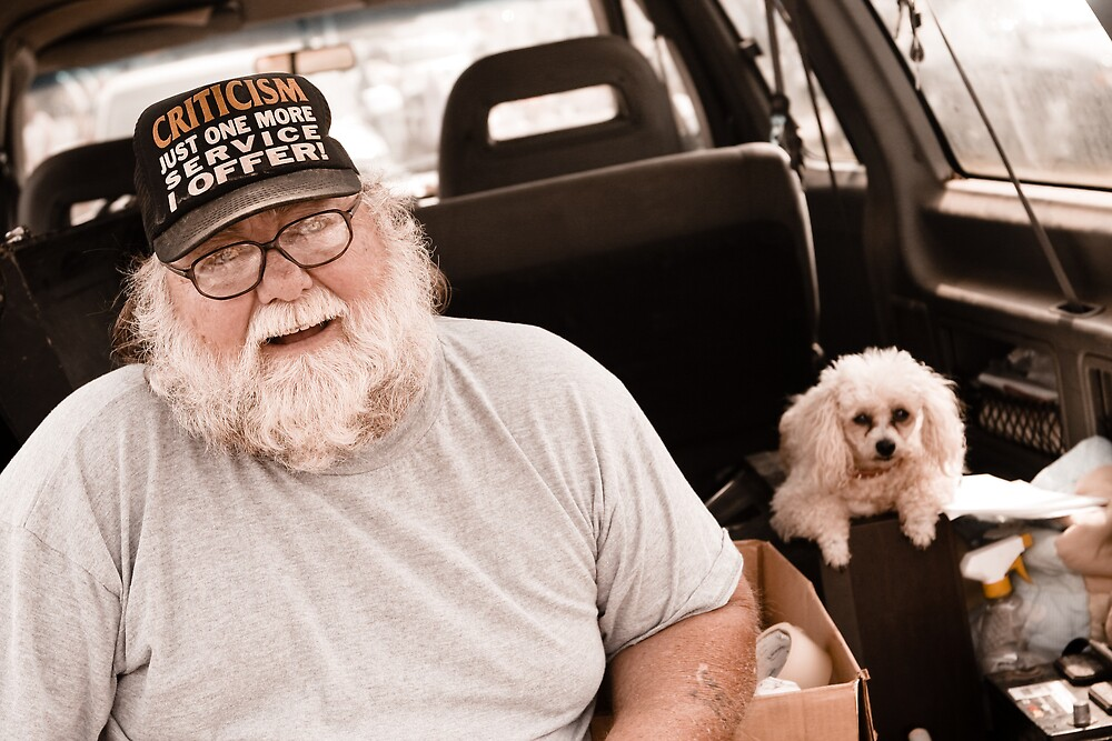 Man on a Tailgate with His Dog II by bhusullivan