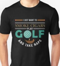 Golft Cigar Gift| Cigar Gift For Men | Cigar Gift For Him | Cigar Gift for Dad | Unique Cigar Gifts | Cigar Shirt | Birthday Cigar Gift | Cigar Lovers  Unisex T-Shirt