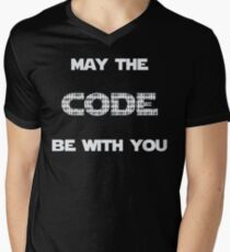 May The Code Be With You Men's V-Neck T-Shirt