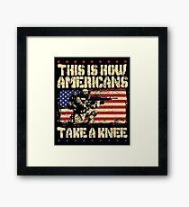 Take A Knee Framed Print