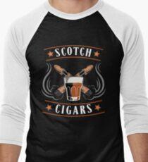 Scotch Cigar Gift | Cigar Gift For Men | Cigar Gift For Him | Cigar Gift for Dad | Unique Cigar Gifts | Cigar Shirt | Birthday Cigar Gift | Cigar Lovers  Men's Baseball ¾ T-Shirt