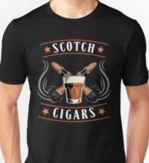 Scotch Cigar Gift | Cigar Gift For Men | Cigar Gift For Him | Cigar Gift for Dad | Unique Cigar Gifts | Cigar Shirt | Birthday Cigar Gift | Cigar Lovers  Unisex T-Shirt