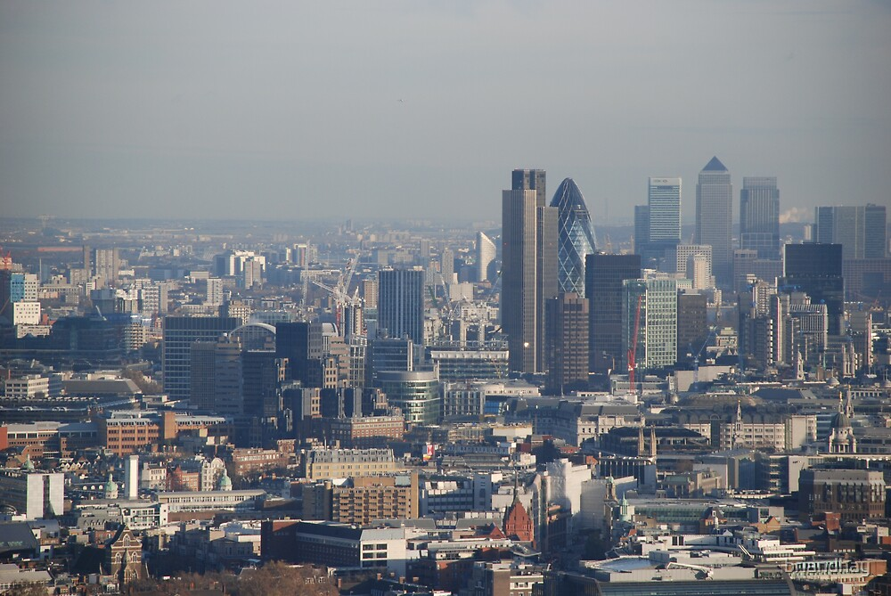 Towards the City and Canary Wharf by briandhay
