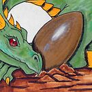 Dragon with egg by Nina Bolen