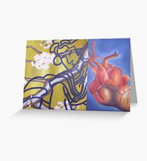 veins diptych Greeting Card