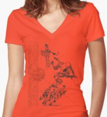 Vintage Pee Chee Women's Fitted V-Neck T-Shirt