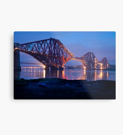 Reflections Before Sunrise: The Forth Railway Bridge  Metal Print