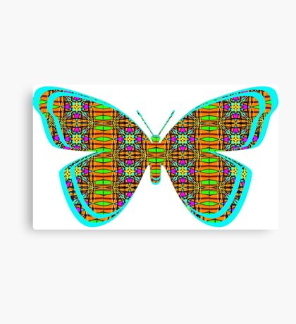 Butterfly of Digital Design by Jenny Wren & KazM Canvas Print