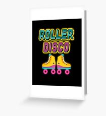 Roller Disco 80s | 80s theme gift | 80s neon tshirt | rad dad shirt | 80s dad | retro graphic tee | eighties party | 80s theme party | retro graphic tshirt  Greeting Card