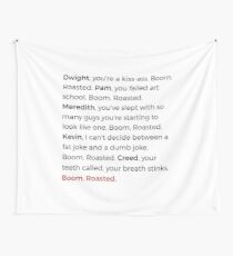 The Office - Boom. Roasted. Wall Tapestry