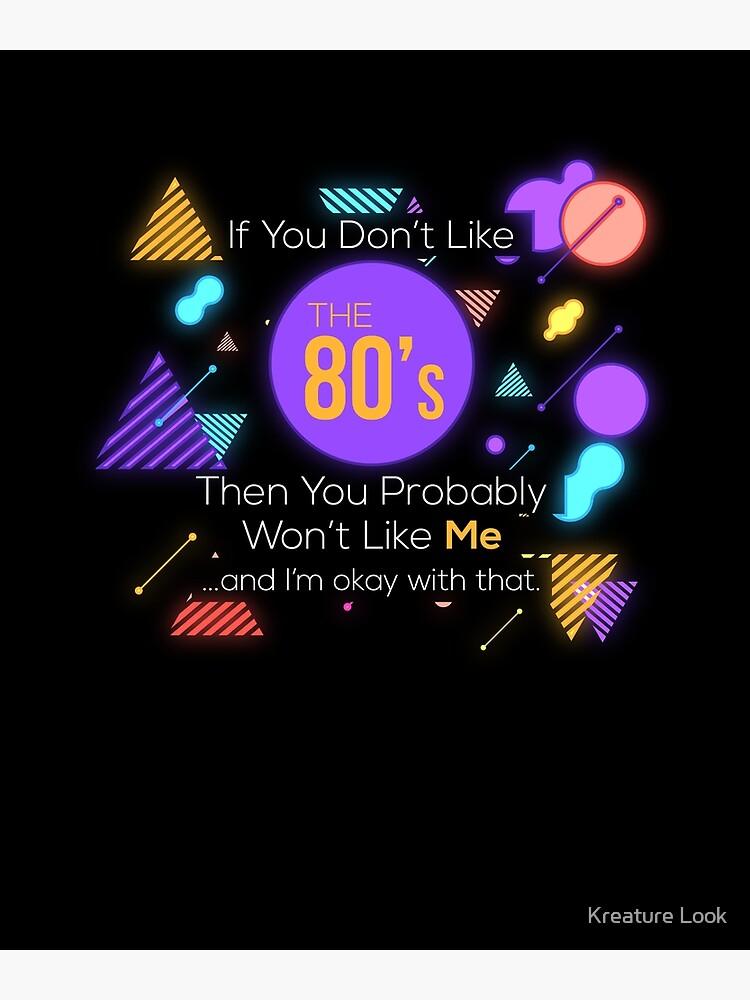 80s theme gift | 80s neon tshirt | rad dad shirt | 80s dad | retro graphic  tee | eighties party | 80s theme party | retro graphic tshirt | Poster