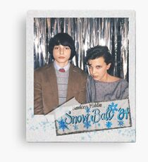 Mike and Eleven at the Snow Ball Polaroid (Stranger Things) Canvas Print
