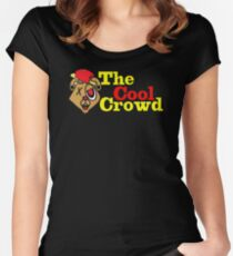 TOP T-SHIRT SH416 The Cool Crowd Best Trending Women's Fitted Scoop T-Shirt