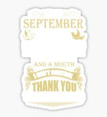 Birthday gift for women and girls were born September Sticker