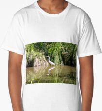 Eastern Great Egret Long T-Shirt