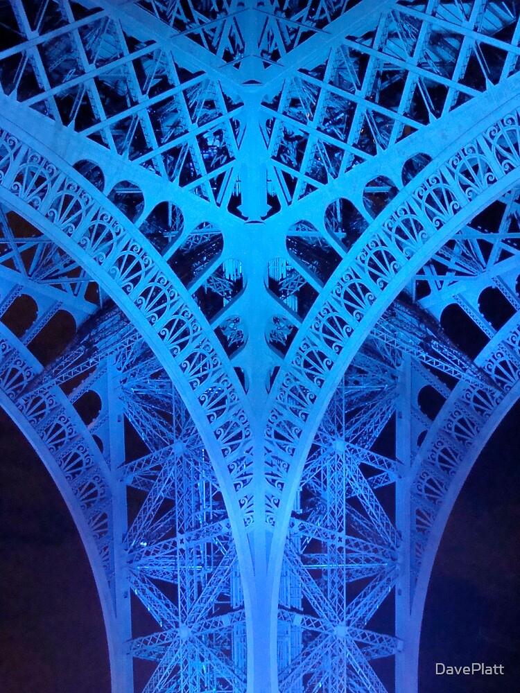 Eiffel Tower Leg In Blue by DavePlatt