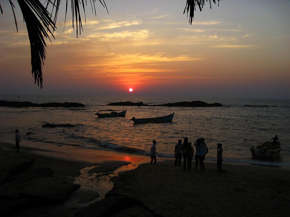 Sunset at Anjuna Beach by mypics4u