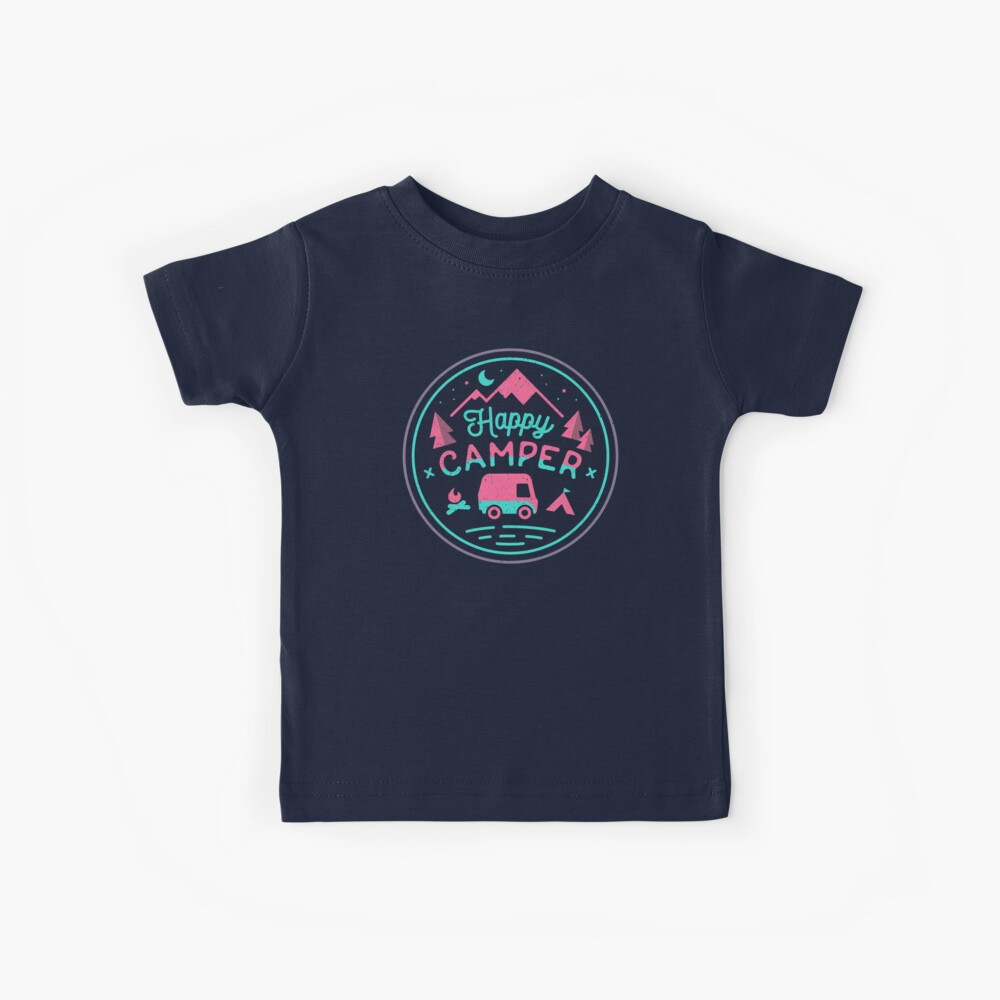 Happy Camper Soft-top Kids T-Shirt