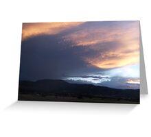Mountains at Dusk Greeting Card