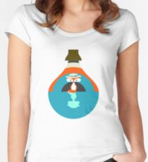 Cute fox reflection Women's Fitted Scoop T-Shirt