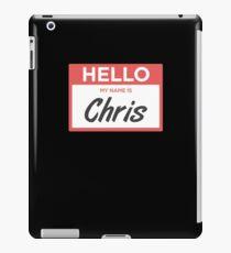 Chris | Funny Name Tag iPad Case/Skin