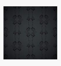Black floral pattern. Photographic Print