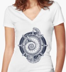 Sea adventure Women's Fitted V-Neck T-Shirt