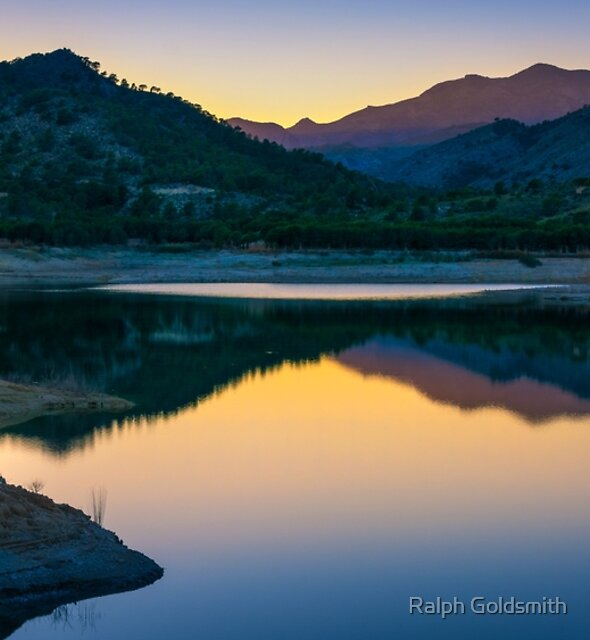 Reflections after sunset by Ralph Goldsmith