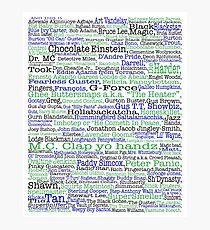 Psych tv show poster, nicknames, Burton Guster Photographic Print