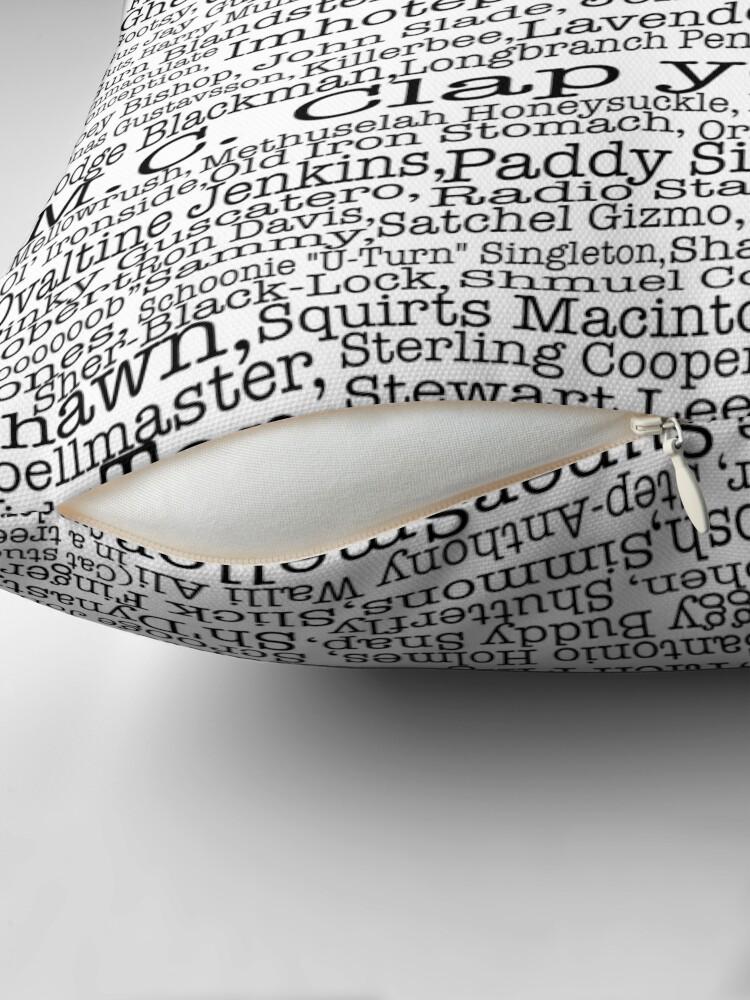 Vista alternativa de Cojín Poster del programa de televisión Psych, apodos, Burton Guster