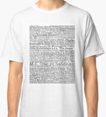Psych tv show poster, nicknames, Burton Guster Classic T-Shirt
