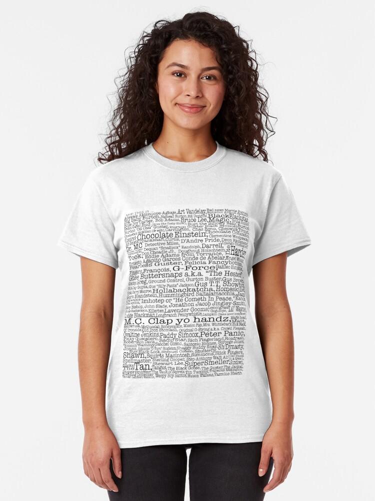 Vista alternativa de Camiseta clásica Poster del programa de televisión Psych, apodos, Burton Guster