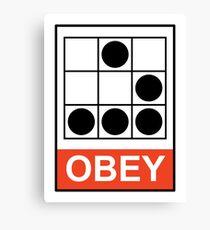 Obey Hacker Canvas Print