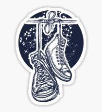 Sneakers on wires Sticker
