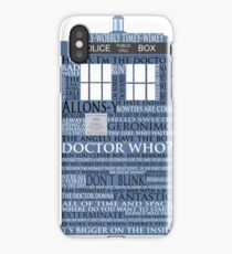 Dr. Who Whovian fans iPhone Case